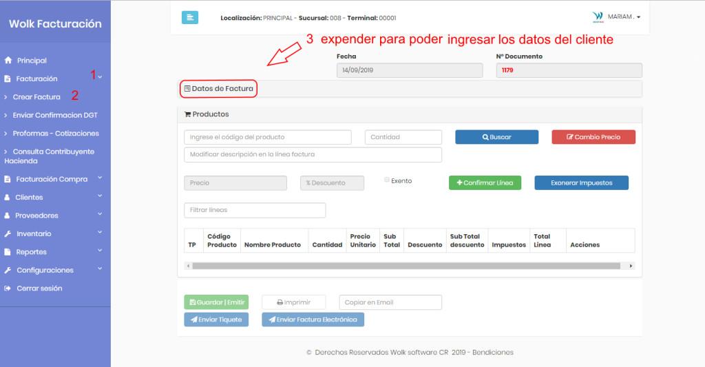 creacion factura web edit