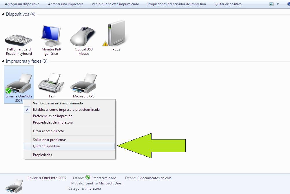 Resultado de imagen para eliminar impresora windows 10